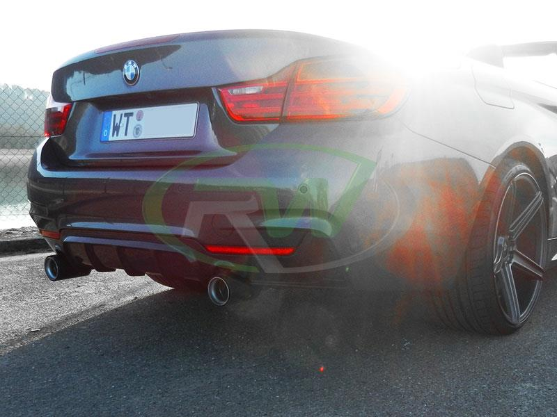 BMW F33 435i with our  Performance Style Carbon Fiber Diffuser