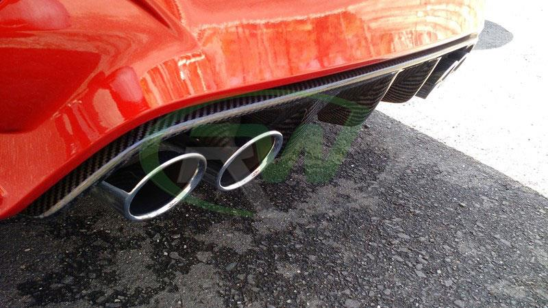 BMW F82 M4 in Orange with an RW CF Performance Style Diffuser
