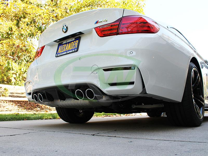 BMW F82 M4 White with a Carbon Fiber Performance Style Diffuser
