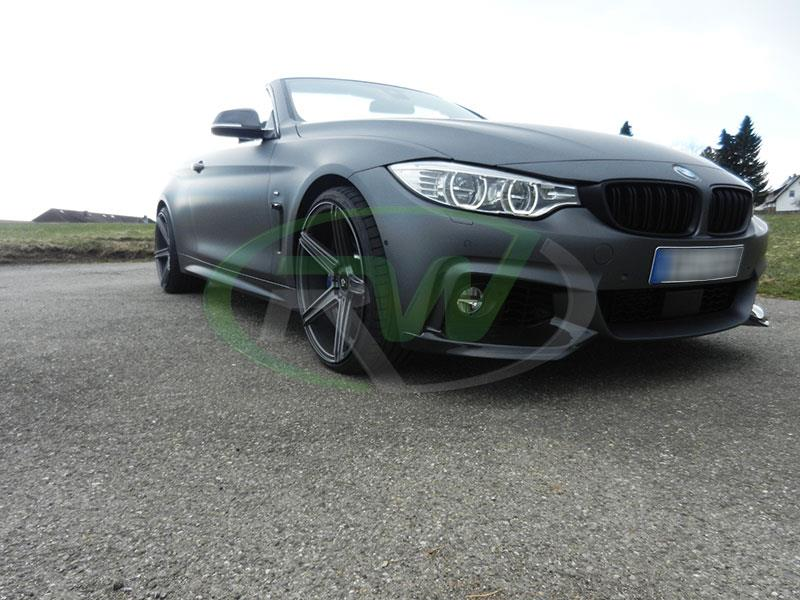 BMW F33 435i with a set of new Performance Style Carbon Fiber Splitters