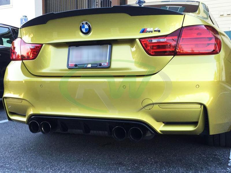 BMW F82 M4 with a Carbon Fiber Performance Style Diffuser