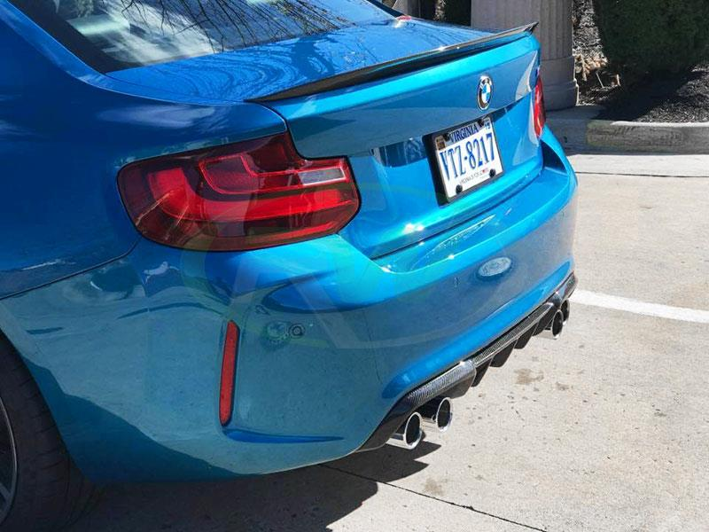 BMW F87 M2 Performance Style Carbon Fiber Rear Diffuser