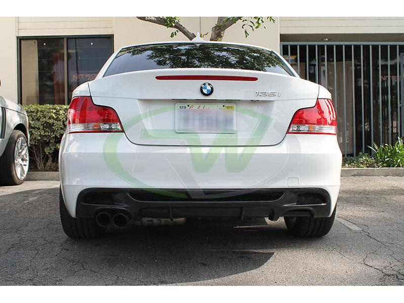 BMW E82 135i Performance Style Carbon Fiber Diffuser