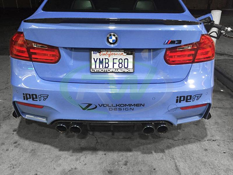 BMW F80 M3 with a Carbon Fiber  Performance Style Diffuser