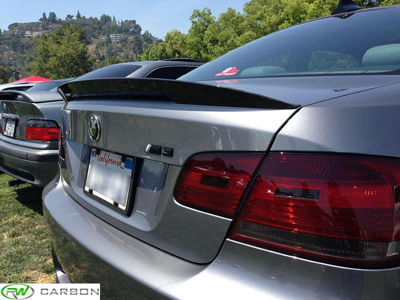 BMW E92 Carbon Fiber Performance Style Trunk Spoiler