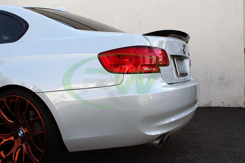 BMW E92 328i with our Carbon Fiber Performance Style Trunk Spoiler