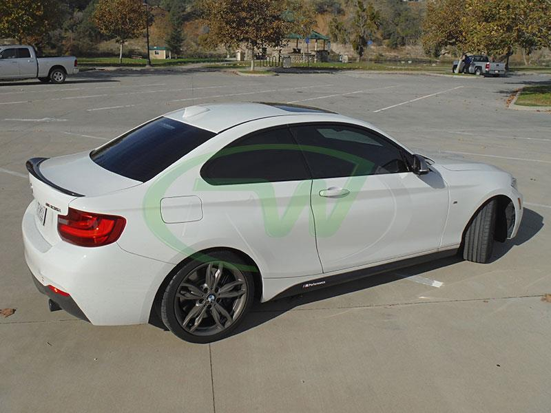 BMW F22 M235 with RW Carbon's Performance Style Carbon Fiber Trunk Spoiler