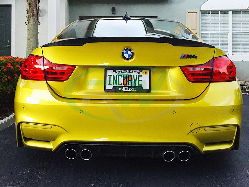 Austin Yellow from Incurve Wheels BMW F82 M4 Performance Style Carbon Fiber Trunk Spoiler