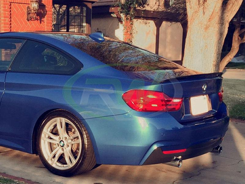 BMW F32 428i Performance Style Carbon Fiber Trunk Spoiler