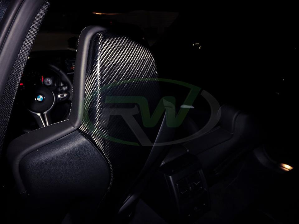 Black BMW F80 M3 with RW Carbon Fiber Seat Backs