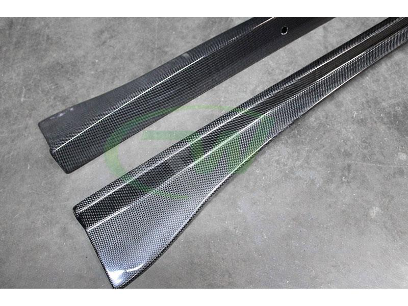 BMW F06 F12 F13 640 650 M6 Carbon Fiber Side Skirt Extensions