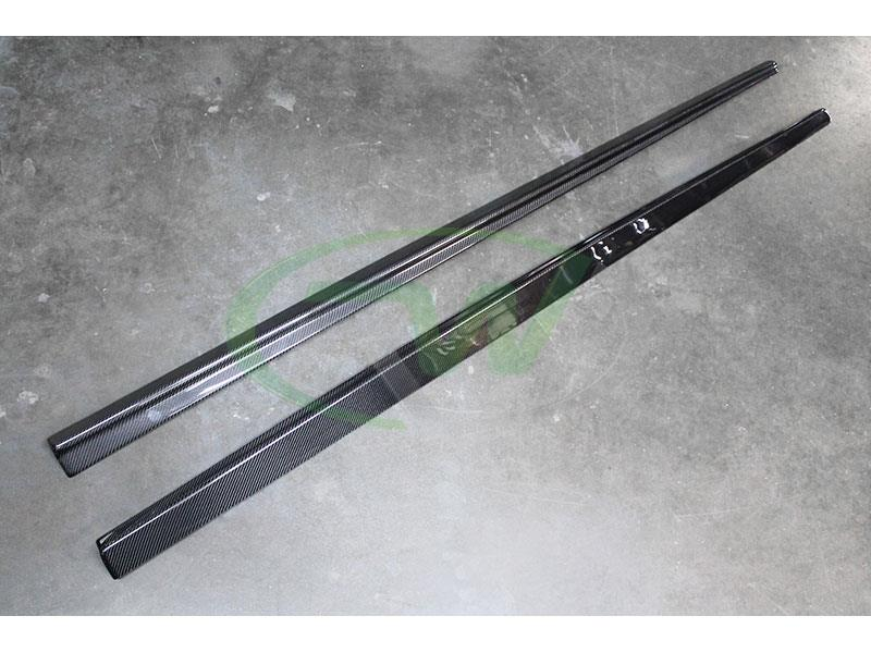 BMW F22 F23 3D Style Carbon Fiber Side Skirt Extensions
