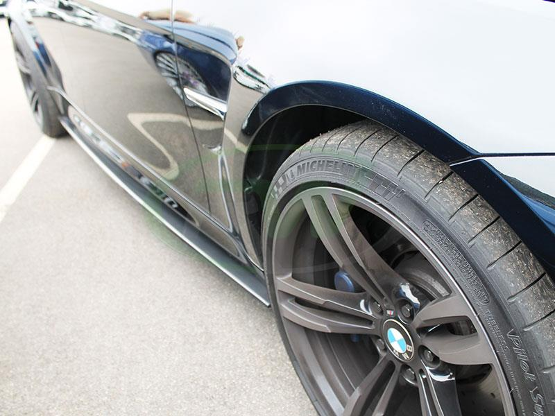 Black BMW F80 M3 with RW Carbon Fiber Side Skirt Extensions