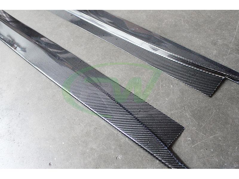 BMW F82 F83 M4 Carbon Fiber Side Skirt Extensions