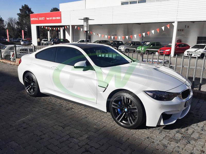BMW F82 M4 with a set of RW Carbon Fiber Side Skirt Extensions