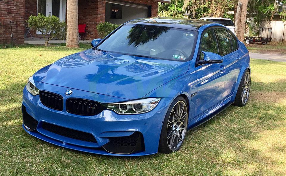 Yas Marina BMW F82 M4 with a set of RW CF Side Skirt Extensions