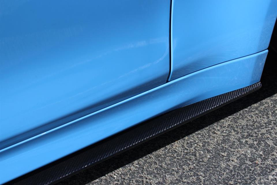 Yas Blue BMW F82 M4 RW Carbon Fiber Side Skirt Extensions