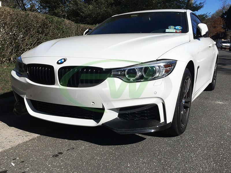 BMW F32 4 series with a set of RW Performance Style Carbon Fiber Splitters