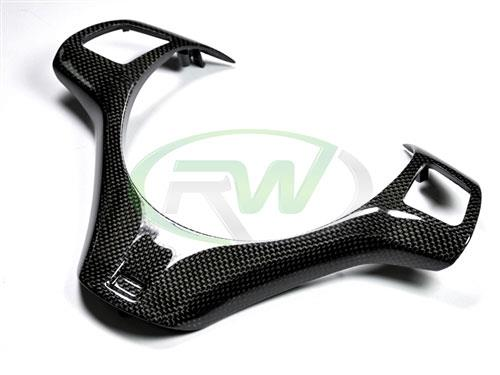 BMW E9X M3 or E82 1M Carbon Fiber Steering Wheel Trim
