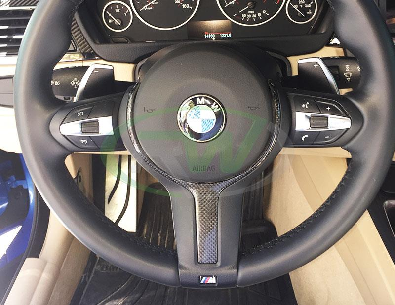 BMW F32 435i with a Carbon Fiber Steering Wheel Trim
