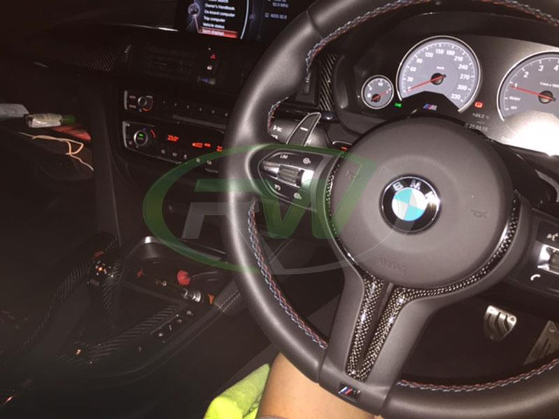 BMW F82 M4 with our Carbon Fiber Steering Wheel Trim