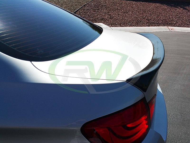 BMW F10 550i with an RW ACS Style Carbon Fiber Trunk Spoiler