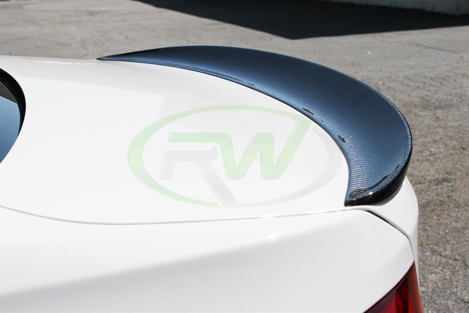 BMW F30 328i with a RW Performance Style Carbon Fiber Trunk Spoiler