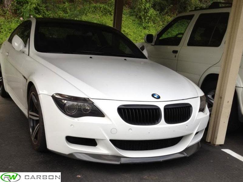 BMW E63 E64 M6 Carbon Fiber V Style Front Lip