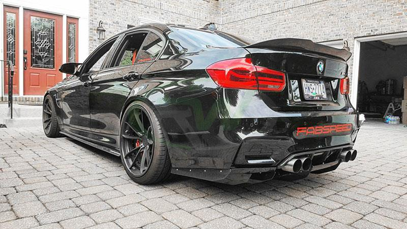 BMW F80 M3 with an RW Varis Style Carbon Fiber Diffuser and Undertray