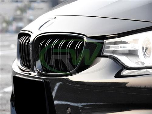 BMW F32/F80 M3/F82 M4 Gloss Black Grilles