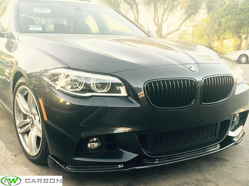 BMW F10 550i with a Carbon Fiber Hamann Style Front Lip Spoiler