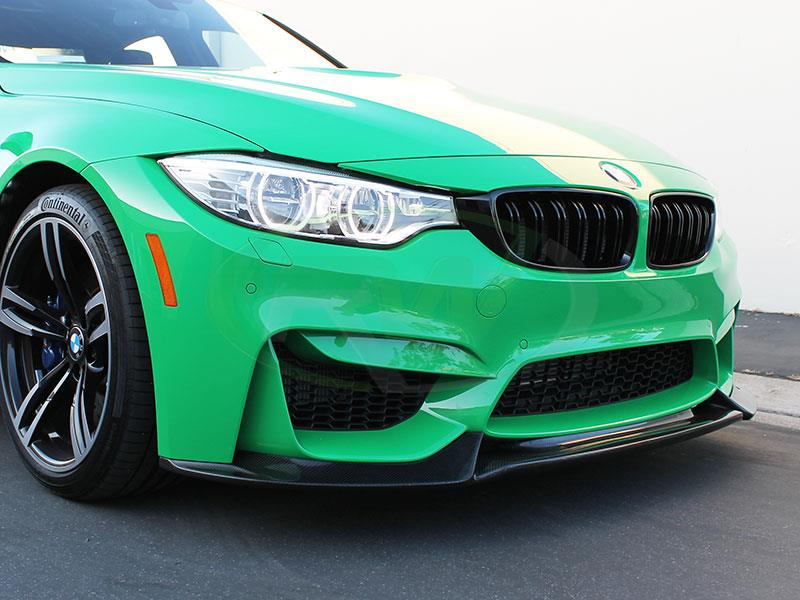 BMW F80 M3 in signal green with a set of RW Carbon Gloss Black Grilles