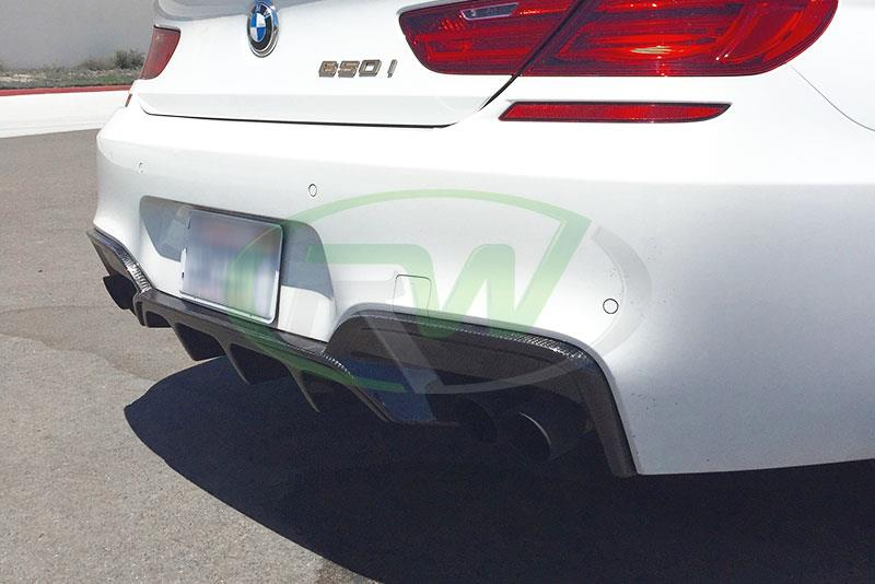 BMW F13 650i with an RW Carbon Fiber Performance Style Diffuser