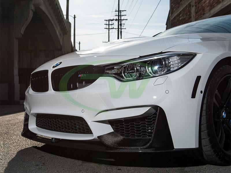 RW Carbon Performance style splitters and lip shown on the f82 m4.