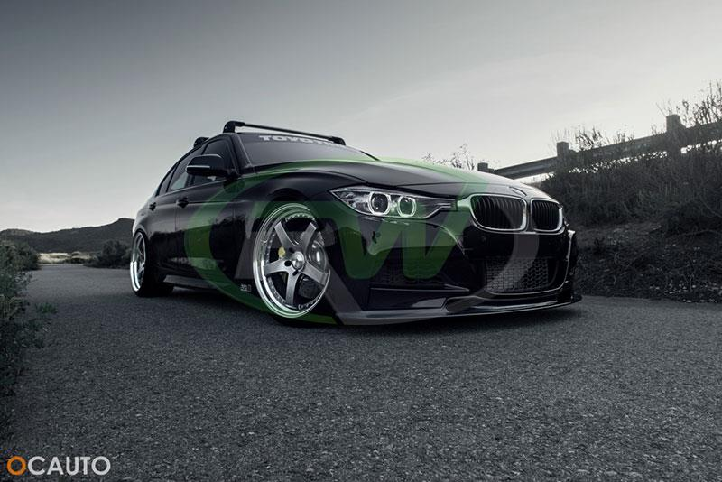 OCauto BMW F30 328i with an RW Varis Style Carbon Fiber Front Lip