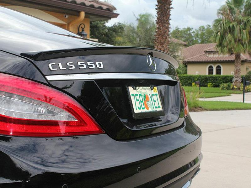 Mercedes W218 Cls550 Amg Style Carbon Fiber Trunk Spoiler on mercedes benz e350 parts