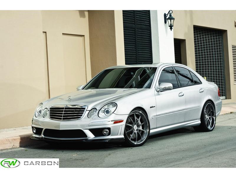 Mercedes W211 E63 Amg Carbon Fiber Front Lip Spoiler 2007 2009