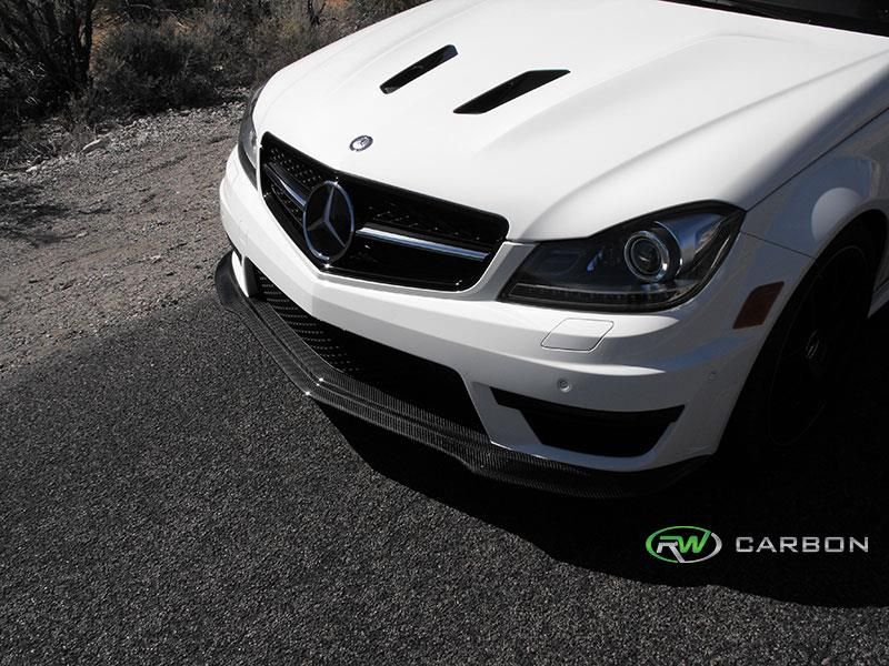 Mercedes C63 AMG 507 Black Series Style Carbon Fiber Lip Spoiler