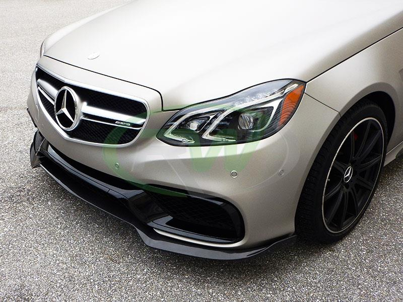 Mercedes W212 E63 AMG Facelift with an RW Brabus Style Carbon Fiber Front Lip