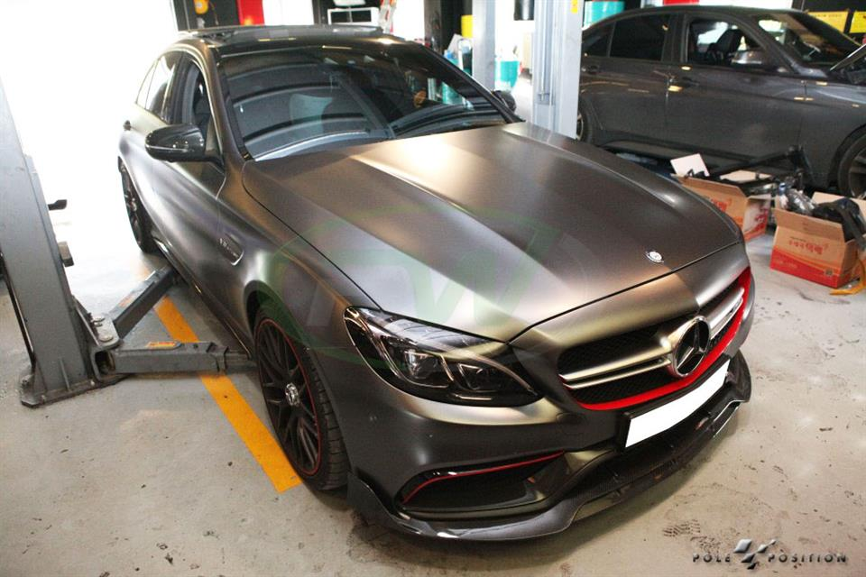 Mercedes W205 C63 with the RW Carbon Fiber Brabus Style Lip Installed