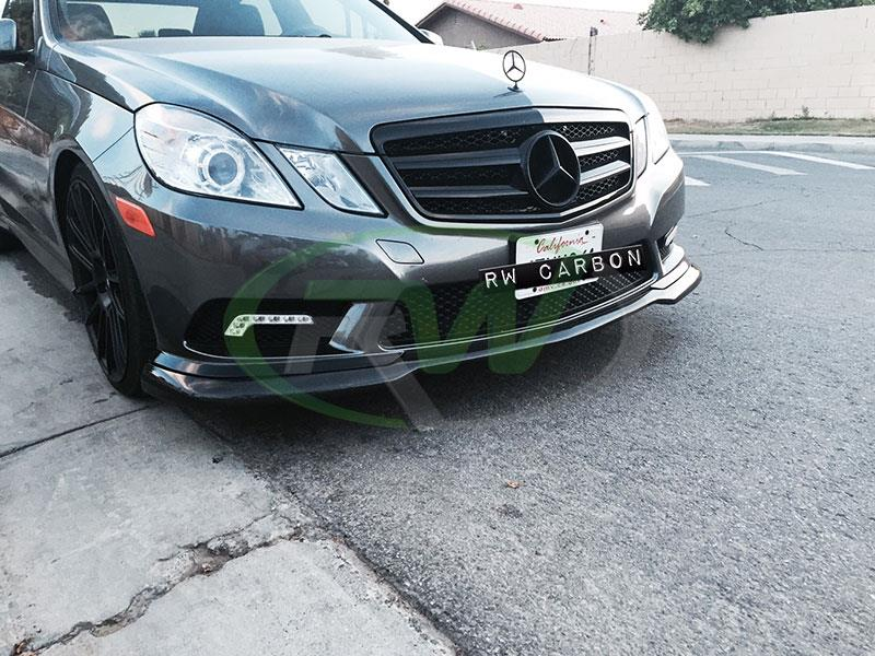 Mercedes W212 E350 with a Carlsson Style Carbon Fiber Lip Spoiler