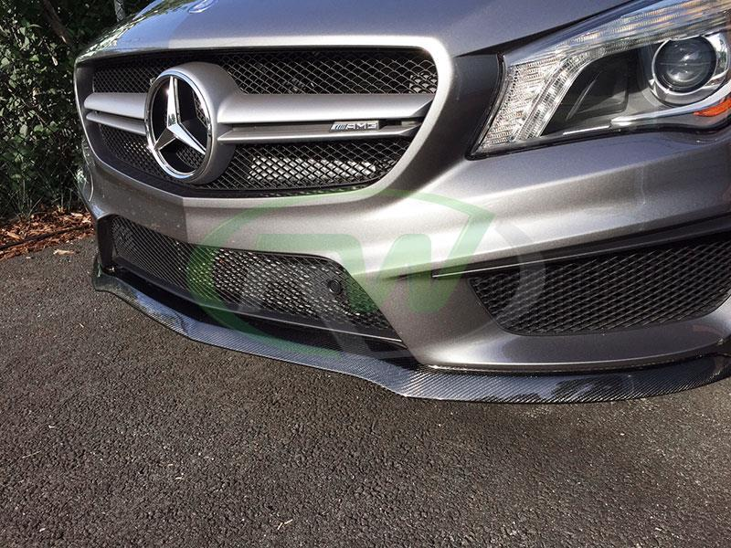 Mercedes C117 CLA45 AMG grey with a RW Carbon Fiber Front Lip