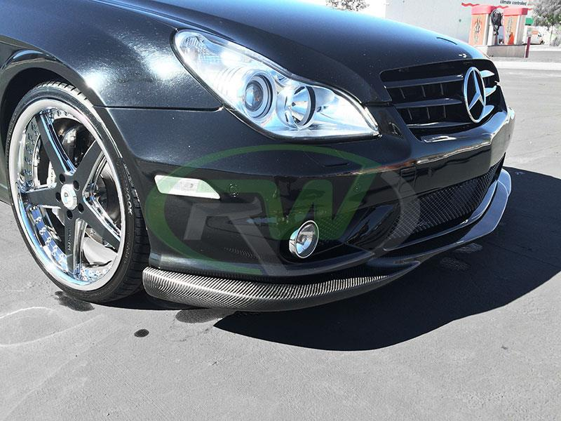 Mercedes W219 CLS55 AMG with an RW Carbon Fiber Front Lip Spoiler