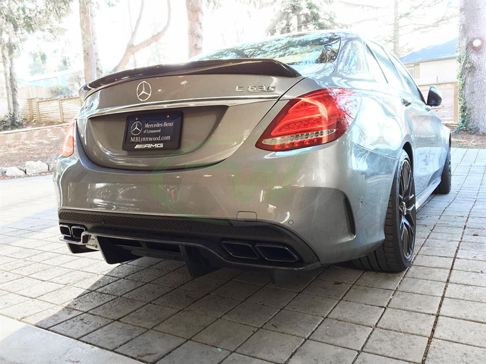 Mercedes W205 C63 with an RW GTX Carbon Fiber Rear Diffuser