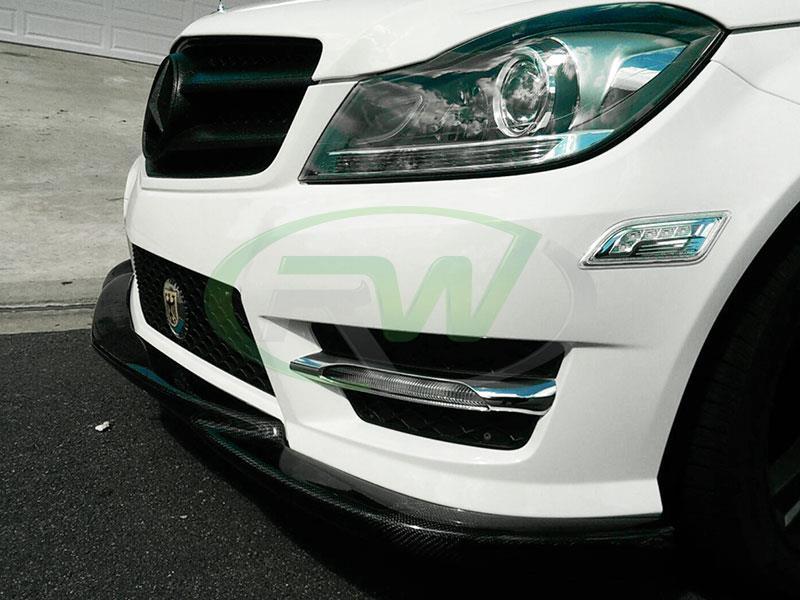 Mercedes W204 C Class C250 And C350 Carbon Fiber Front Lip