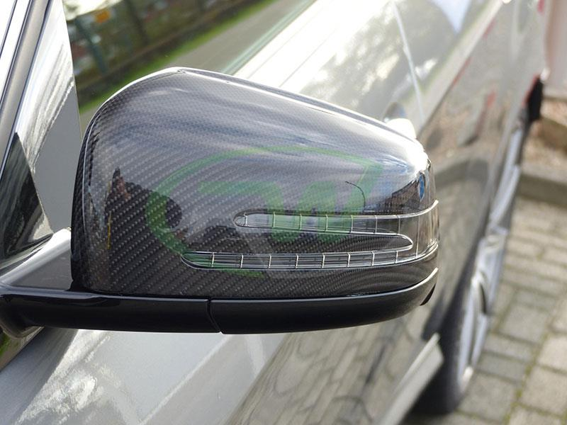 Mercedes E63 AMG W212 with RW Carbon Fiber Replacement Mirror Covers