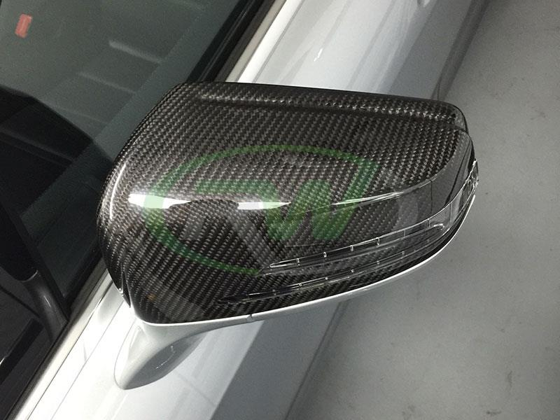 Mercedes W218 CLS550 Carbon Fiber Replacement Mirror Covers