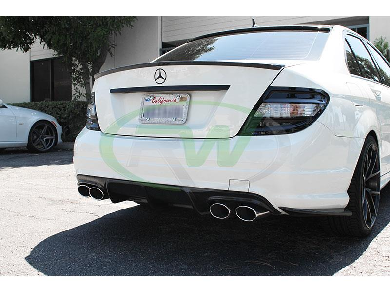 Mercedes W204 C300 Carbon Fiber Rear Bumper Splitters