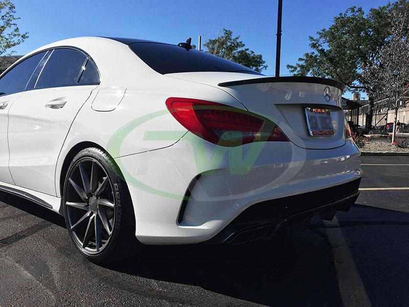 Mercedes C117 CLA250 CLA45 AMG Carbon Fiber Trunk Spoiler