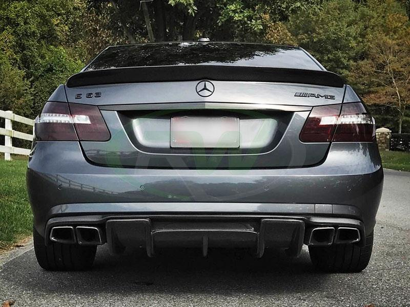 Mercedes W212 E63 AMG with an RW DTM Carbon Fiber Trunk Spoiler